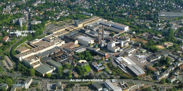 Das Zandersgelände direkt am Rand der Bergisch Gladbacher Innenstadt