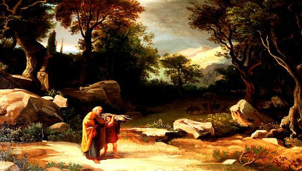 Abraham und Issak. Bild im Ratssaal