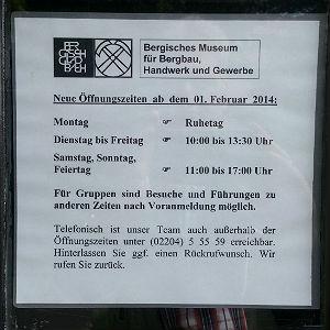 Bergisches Museum Öffnungszeiten