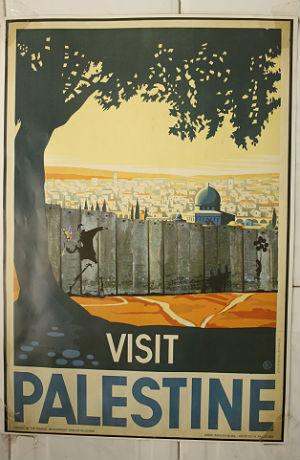 Poster in der Altstadt von Jerusalem