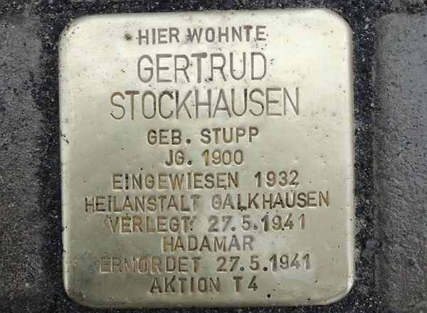 Stolperstein Gertrud Stockhausen 600
