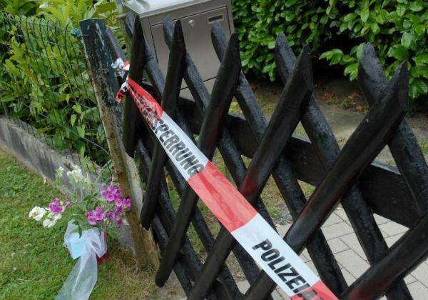Der abgesperrte Tatort am Klutstein