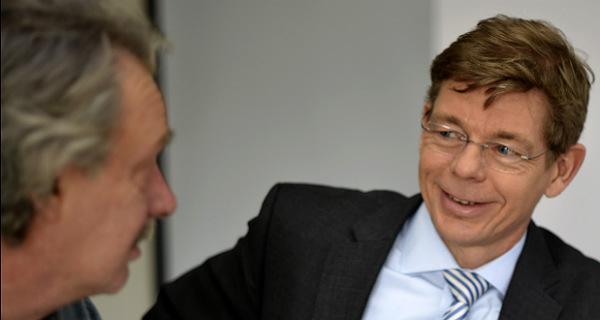 Olaf K. Marx mit SPD-Kandidat Michael Schubek