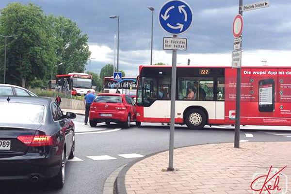 Der Unfall am Busbahnhof