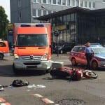 Rettungswagen in schweren Unfall verwickelt