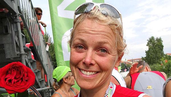 Rike Westermann am Ziel