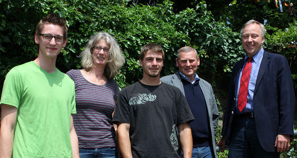 Florian Bittner, Petra Jacobs, Marcel Lorch, Manfred Lorenz und Stephan Schmickler.