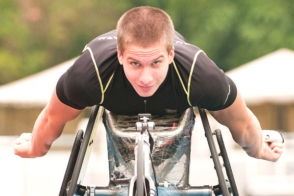 Marc Schuh, Rollstuhlsprinter des TV HerkenrathMarc Schuh, Rollstuhlsprinter des TV Herkenrath