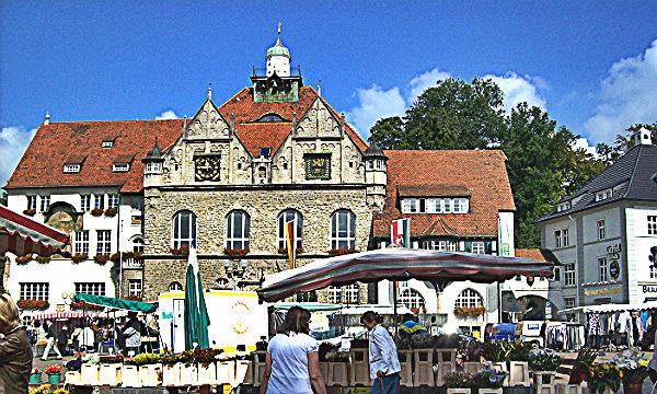 Markt Blumenstand Rathaus