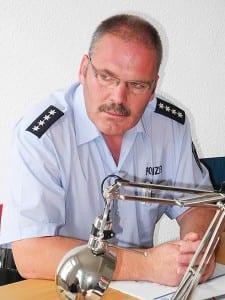 Horst Franke, Polizeihauptkommissar in Bergisch Gladbach