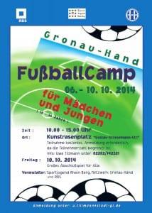 Plakat Fußballcamp