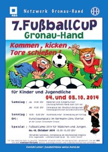 Einladungsplakat Fußballcamp