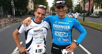 Sebastian Koch und Marco Henrichs vor dem Köln Marathon