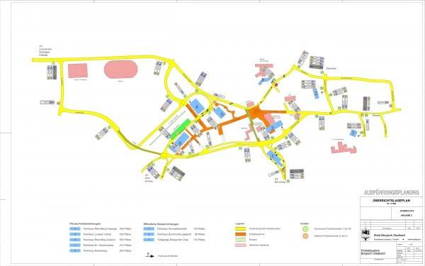 Parkleitsystem-Standorte