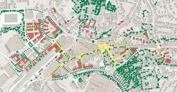 Städtebaulicher Leitplan 02 2014. Zum vergrößern anklicken.