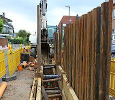 In Refrath wird bereits kräftig gebaut. In der Ackerstraße schon zum 2. Mal.