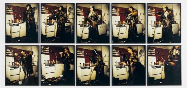 Jürgen Klauke (*1943, lebt in Köln) Küchenfee, 1976 10 teilige Fotoarbeit, je 60 x 50 cm © Jürgen Klauke VG BILD-KUNST Bonn, 2014 Foto: Michael Wittassek