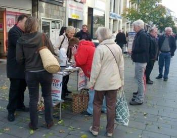 Unterschriftensammlung zu TTIP  Bergisch Gladbach