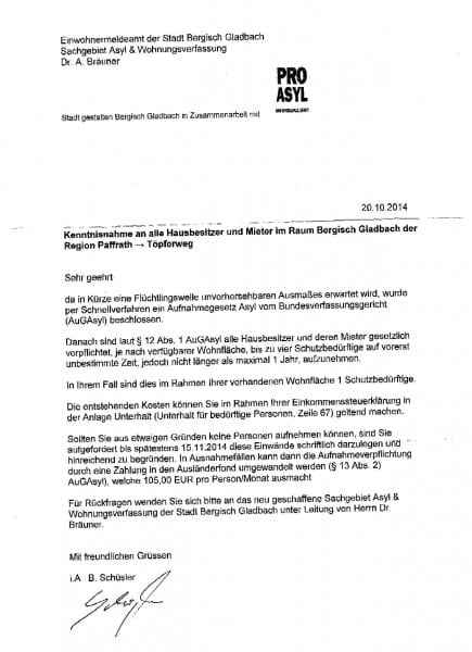Gefälschtes Schreiben im Zusammenhang mit Flüchlingsunterbringung_000001