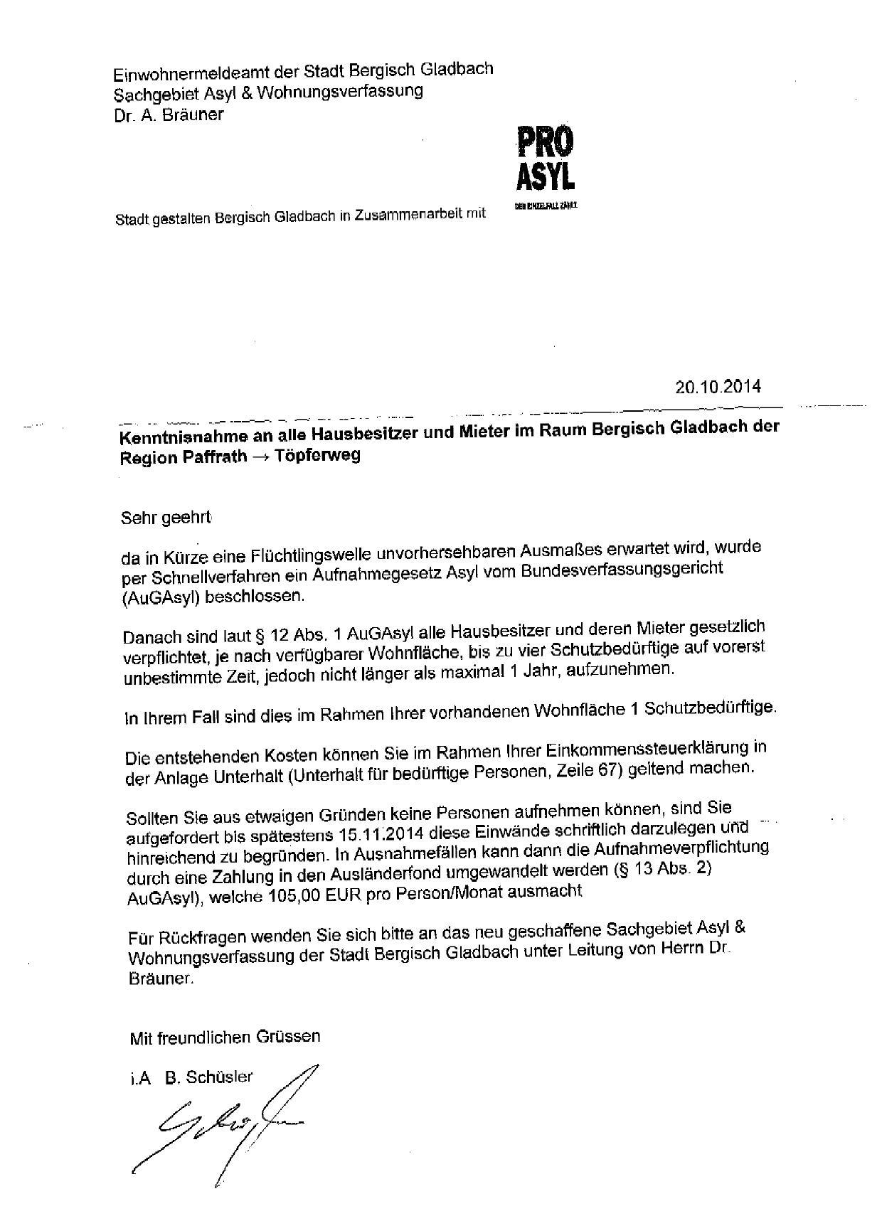 Gefälschter Brief Macht Stimmung Gegen Flüchtlinge