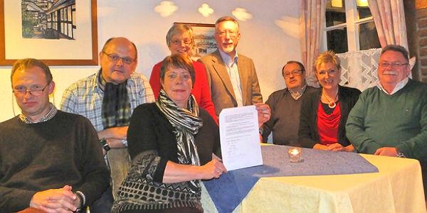 Die Gründungsmitglieder der Bürgergarde Bergisch Gladbach-Bensberg