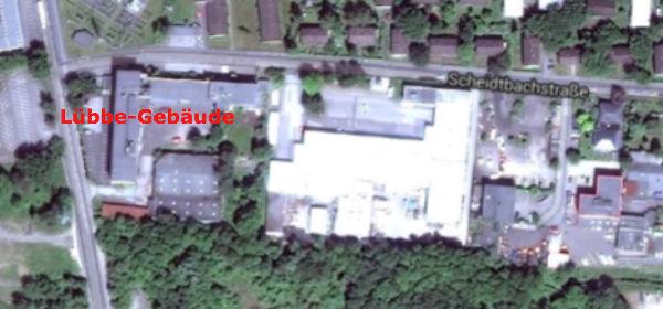 Lübbe-Gebäude Luftbild 600