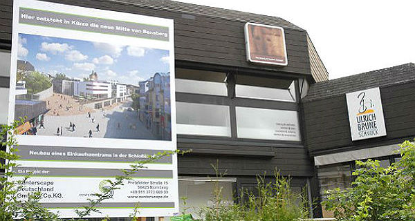 Bauschild Marktgalerie Bensberg