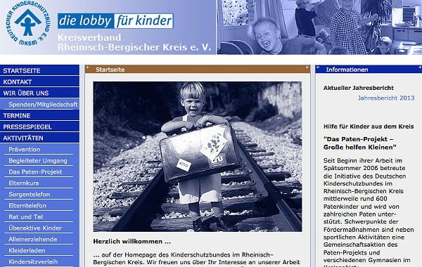 Kinderschutzbund website
