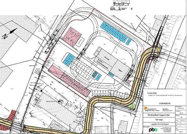 Entwurf für den zentralen Wertstoffhof in Gronau