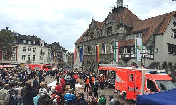 Schauübung der Feuerwehr Bergisch Gladbach