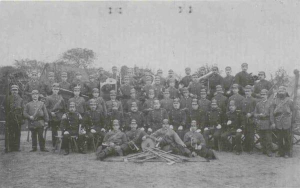 Der Löschzug Stadtmitte im Jahr seiner Gründung 1895