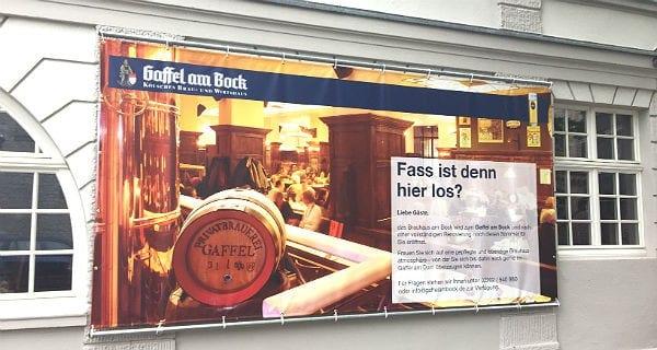 Plakat Gaffel am Bock