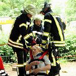 Feuerwehr übt in Münster für den Ernstfall