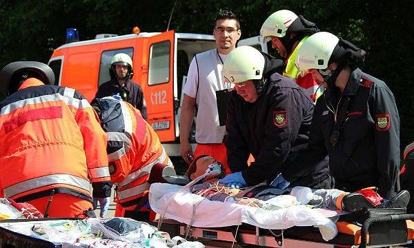 Feuerwehr Übung Verletzte 600