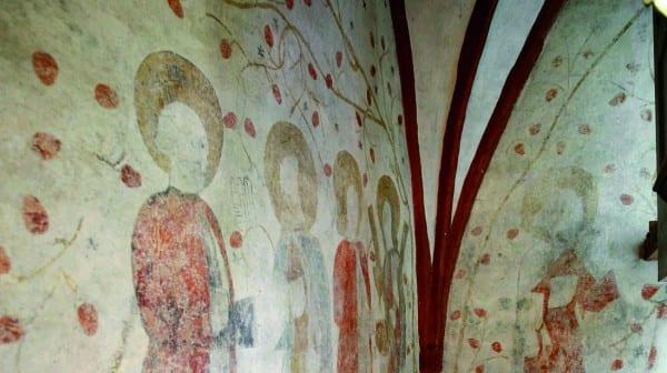 Wandgemälde in der Kirche in Müllenbach
