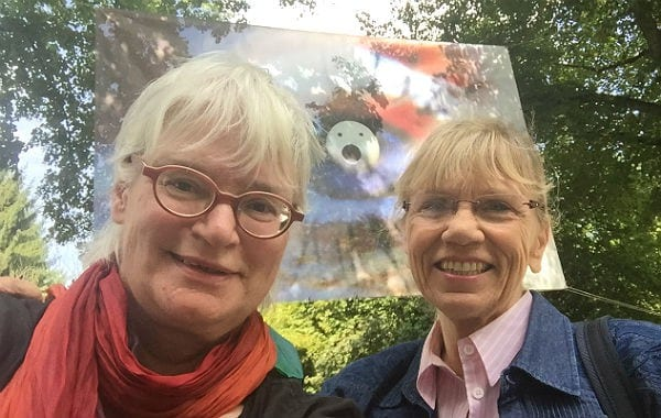 Der AdK-Vorstand: Gisela Schwarz und Edda Jende