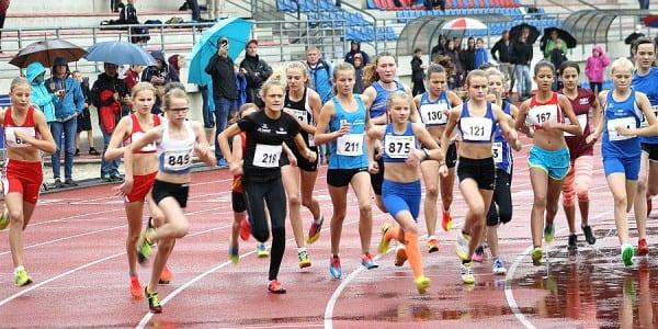 Start über 2000 Meter der weiblichen Jugend U16 und U14