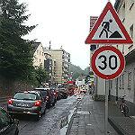 Neue Verkehrsführung auf der Odenthaler Straße