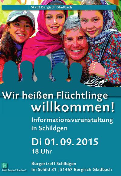 Flyer Schildgen Flüchtlinge