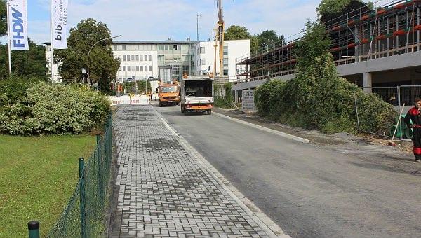 Der Gronauer Mühlenweg nach der Umgestaltung