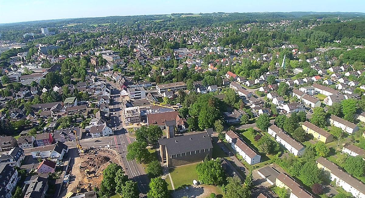 Der Blick über Heidkamp. Foto: Bergisch Schön