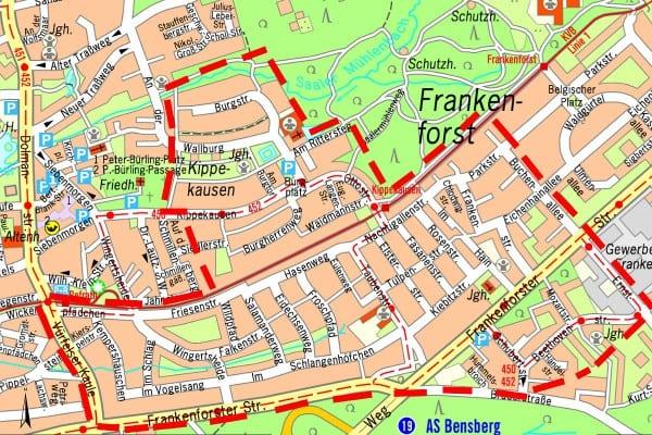 Plan-Frankenforst-Kanalbau 1200