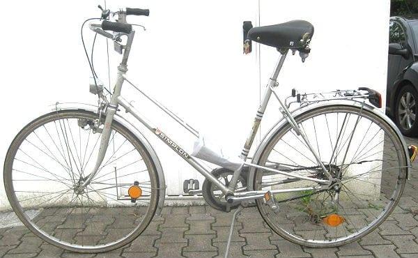 Mit diesem Fahrrad war der Mann verunglückt