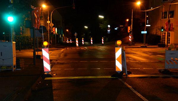 Die Odenthaler Straße stadtauswärts - jetzt wieder frei