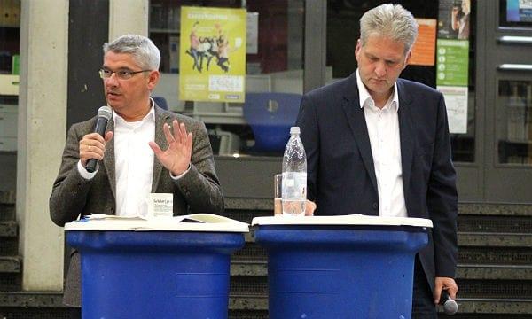 Bürgermeister Lutz Urbach und Moderator/Protokollant Georg Watzlawek