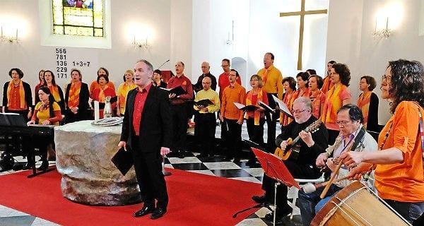 Auftritt der Quirlsingers in der Gnadenkirche