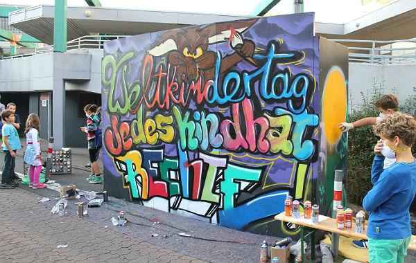 Weltkindertag Graffiti 600