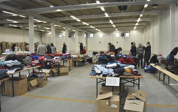 """Aus """"Schuhe für Bulgarien"""" wurde eine riesige Aktion, die auch die Flüchtlinge mit versorgte."""