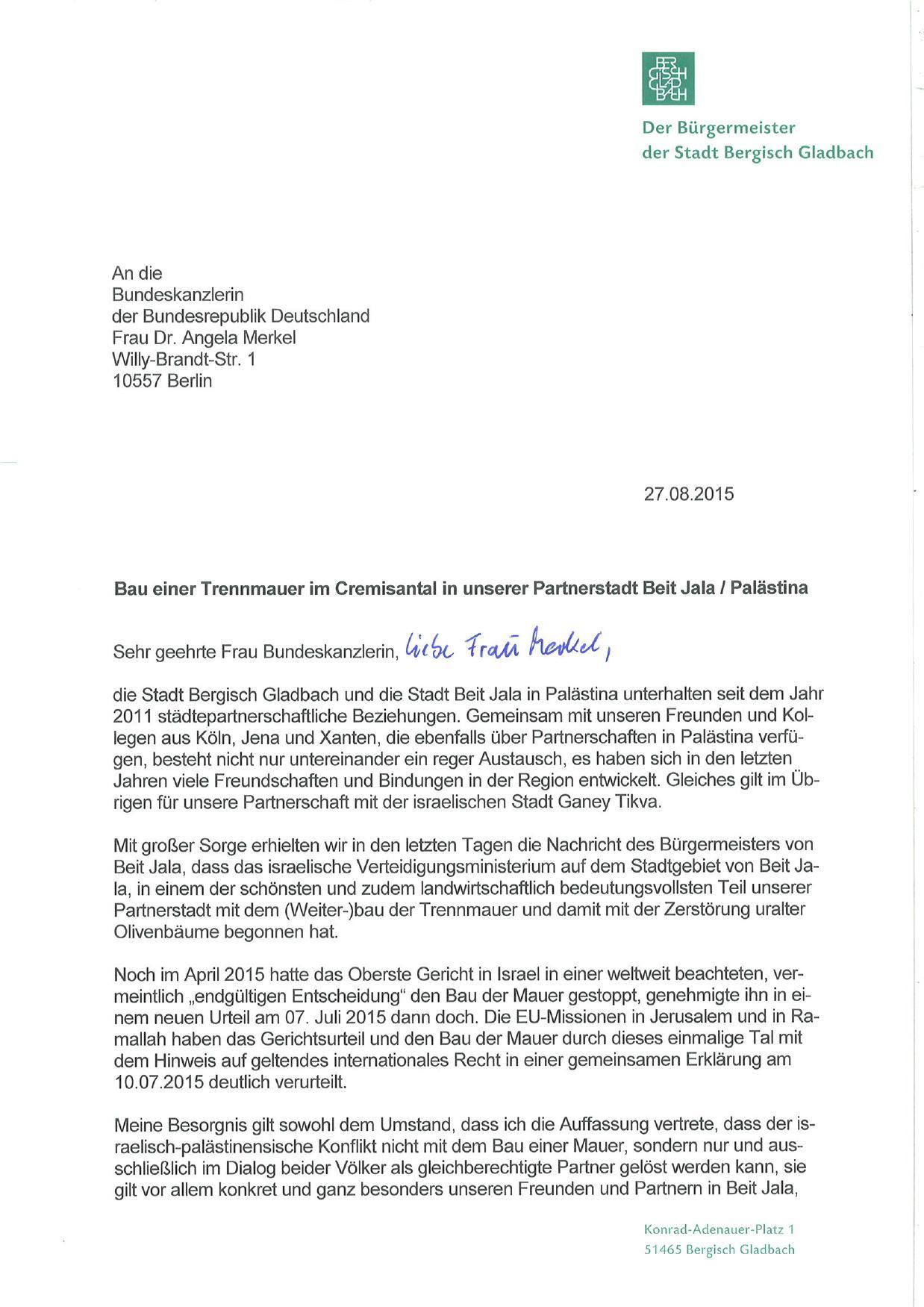 urgent appeal, Schreiben Urbach an Merk. und Steinm_000001