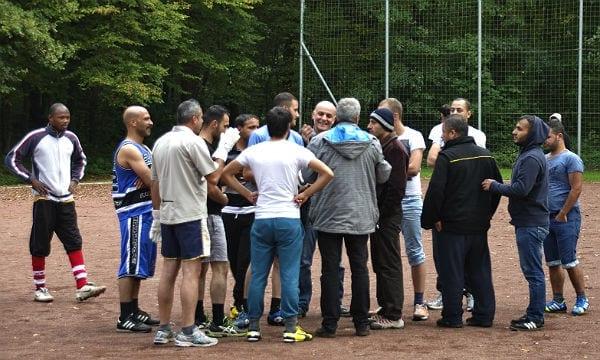 Im Kinderdorf Bethanien organisierte die Initiative ein Fußballturnier